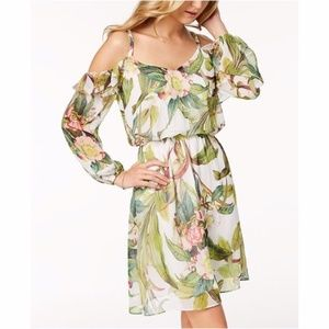 Adrianna Papell (NWT) Tropical Cold Shoulder Dress